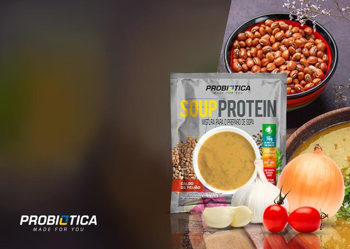 Probiótica lança sopa instantânea com 16g de proteína