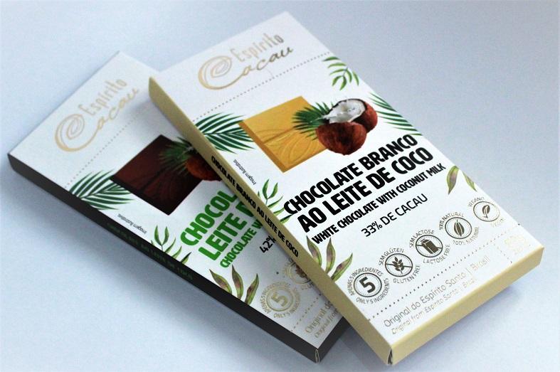 Espírito Cacau lança linha de chocolate feita à base de leite de coco e cacau