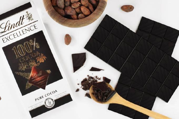 Lindt lança chocolate 100% cacau