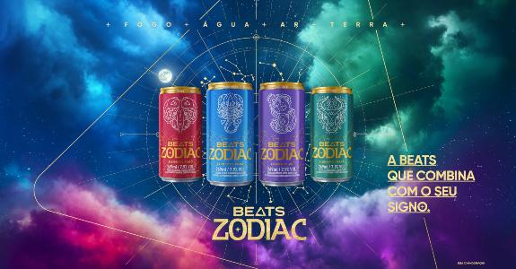 Skol Beats lança linha de bebidas inspirada em elementos do zodíaco