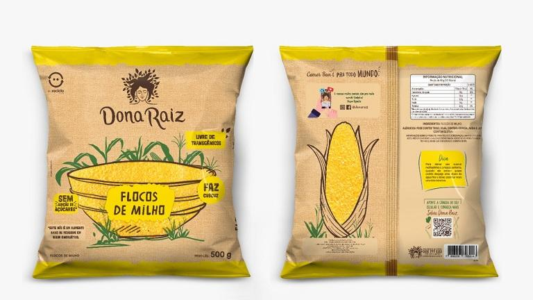 Dona Raiz lança flocos de milho em embalagem flexível