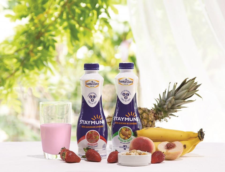 Staymune é a nova bebida láctea da Santa Clara