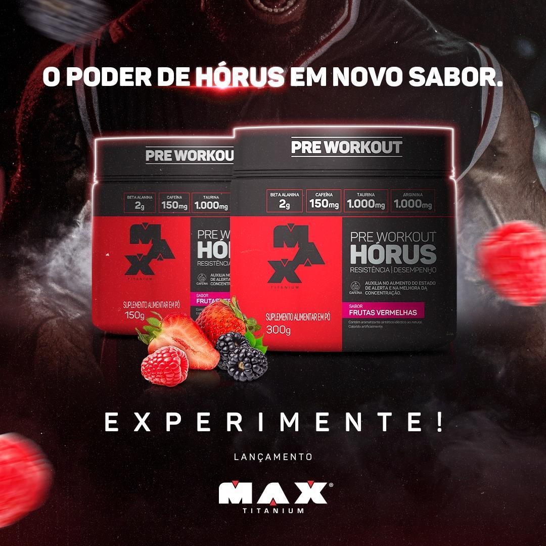 MAX Titanium lança novos sabores de pré-treino e barra de proteína