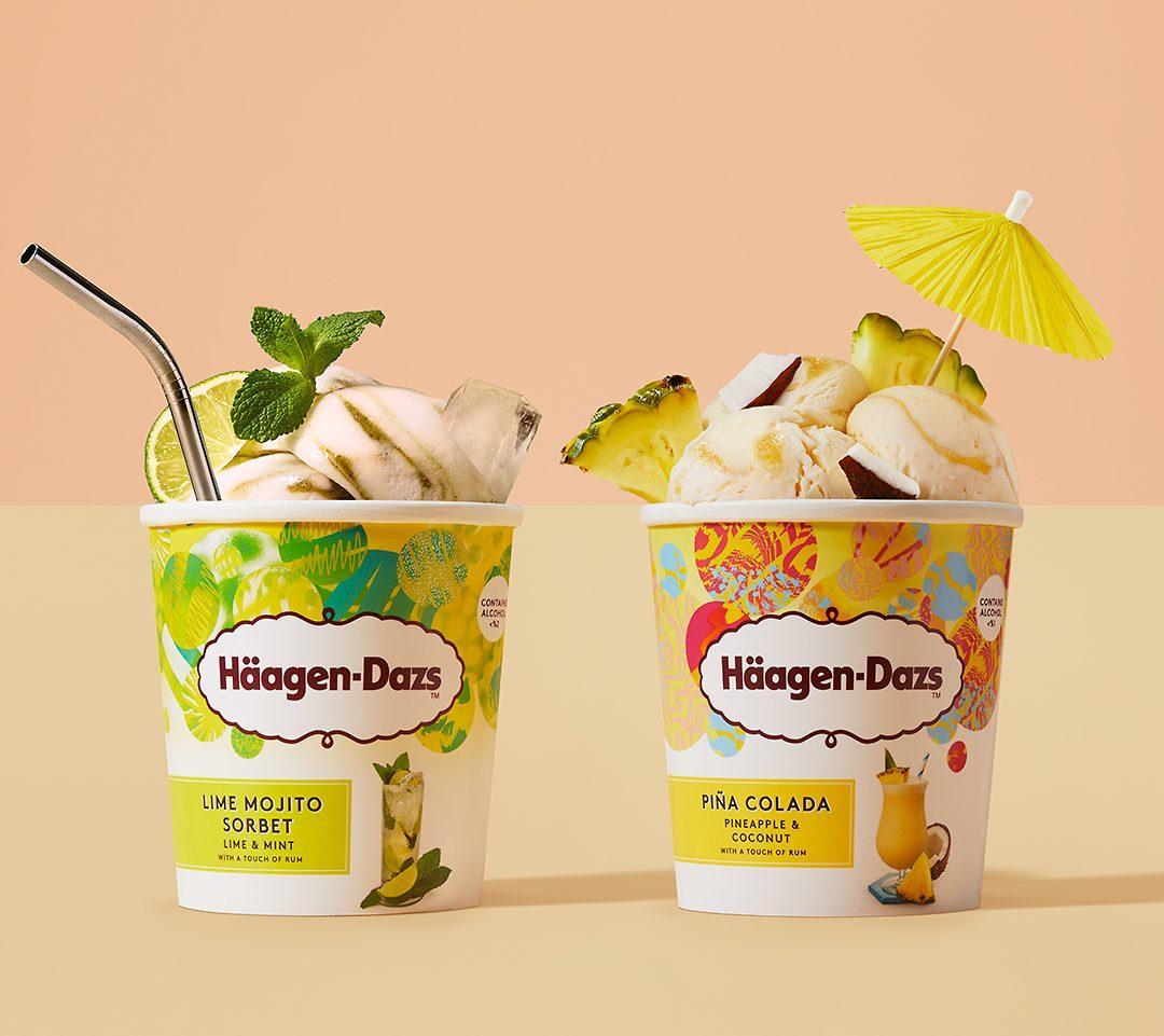 Häagen-Dazs lança dois sabores de gelato com álcool