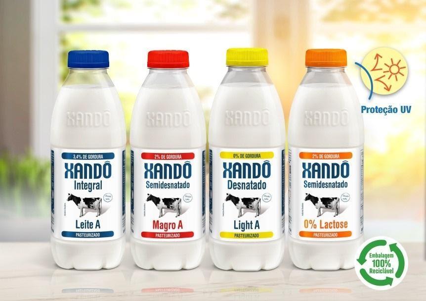Marca de Leite Xandô agora em garrafas PET Cristal