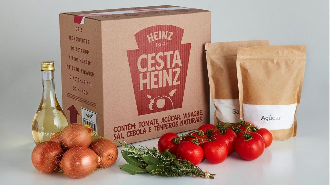 Heinz transforma ingredientes de seu Ketchup em cestas de doações