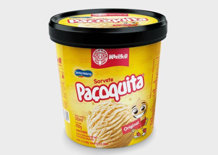 Santa Helena lança sorvete da sua tradicional Paçoquita