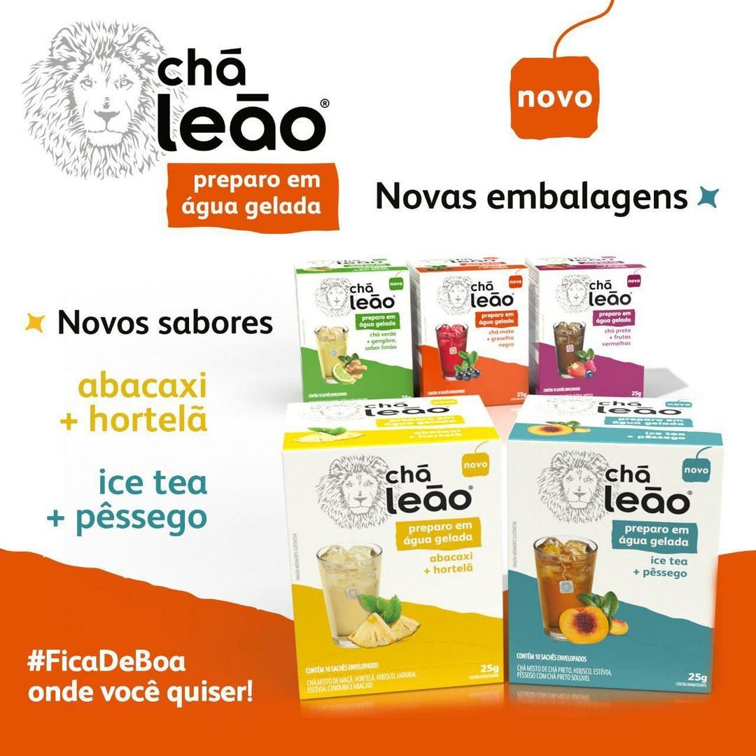 Chá Leão lança novos sabores com preparo em água gelada