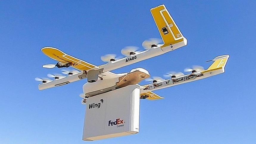 INTERNACIONAL: Empresa americana entrega alimentos com uso de drones