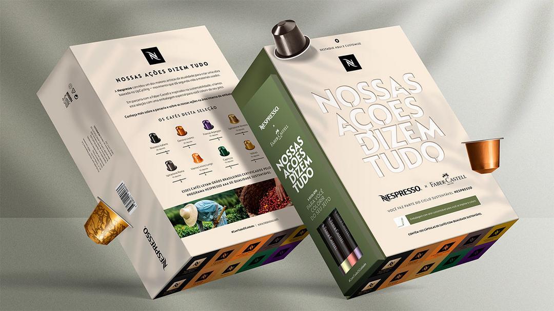 Nespresso lança pack em parceria com a Faber Castell