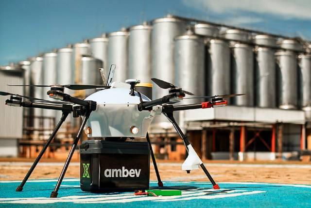 Ambev testa delivery com drones