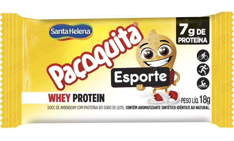 Nova paçoquita com Whey Protein