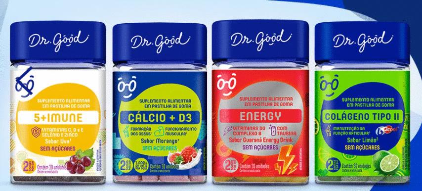 Dr. Good amplia linha de suplementos alimentares em goma com 4 lançamentos