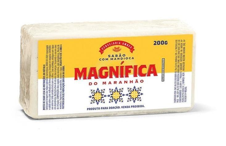 Cerveja Magnífica, marca da Ambev no Maranhão, produz sabão a partir de mandioca