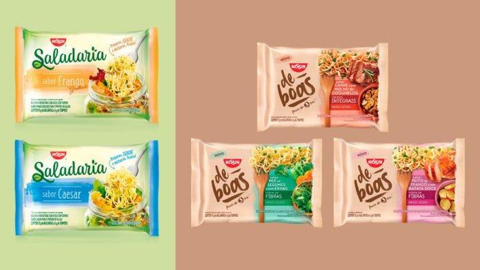 Nissin lança nova linha de miojo para misturar com salada