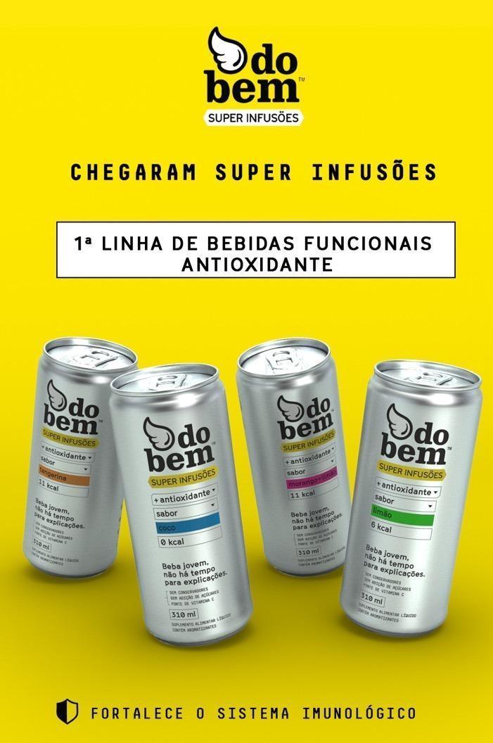 Do bem lança linha de bebidas funcionais antioxidante