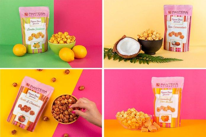 Pantera Alimentos lança linha de pipoca gourmet