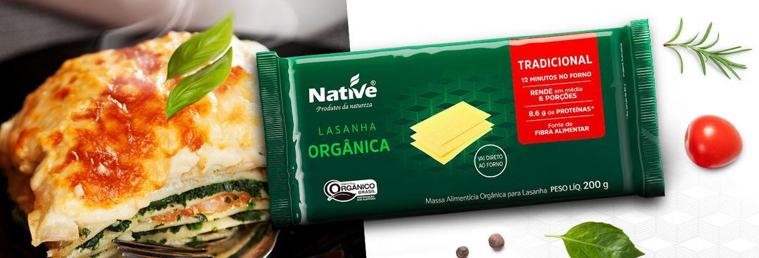 Native lança a primeira massa para lasanha orgânica do Brasil
