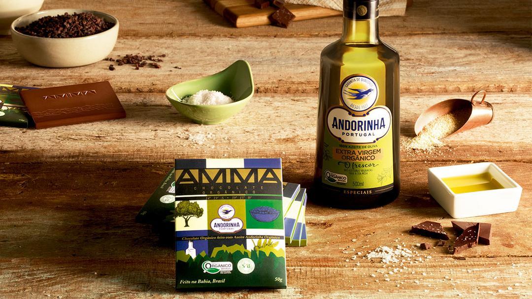 Andorinha e AMMA lançam chocolate com azeite