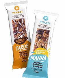 Pinati lança novas versões de Barras de Nuts