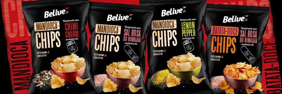 BeLive lança Chips em parceria com a BR Spices
