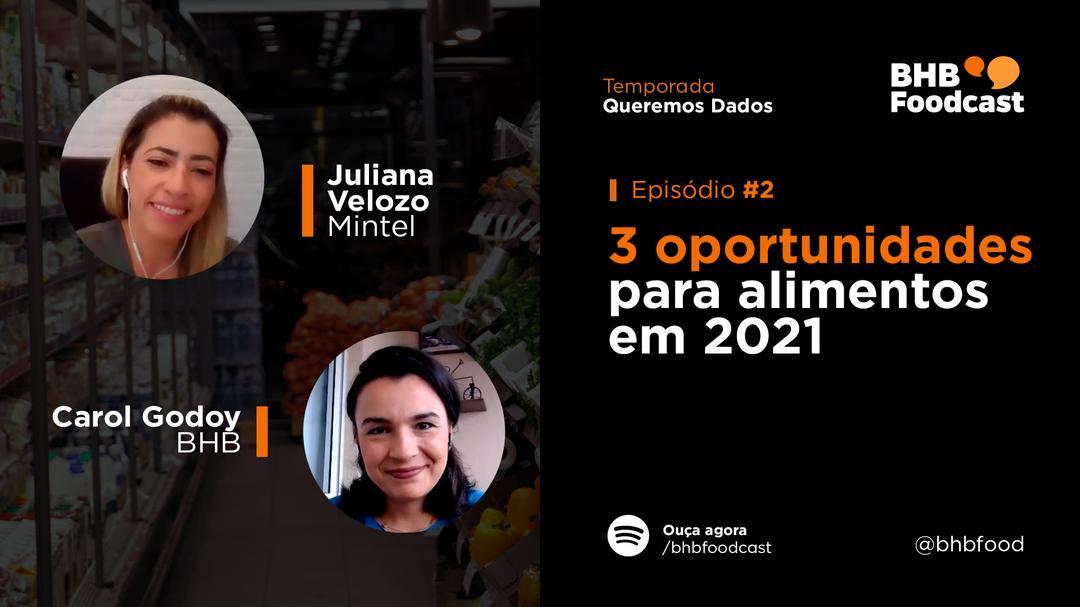 #02 - 3 OPORTUNIDADES para alimentos em 2021 | Queremos Dados