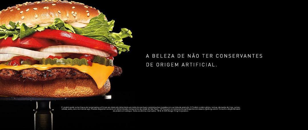 Burger King lança Whopper livre de conservantes artificiais