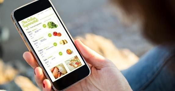 Compra online de alimentos cresceu 233% no mundo