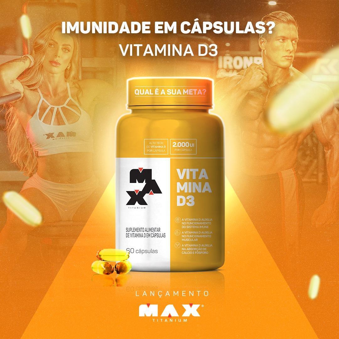 Max Titanium lança nova versão de sua Vitamina D3