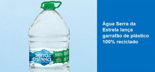 Água Serra da Estrela lança primeiro garrafão feito de plástico 100% reciclado