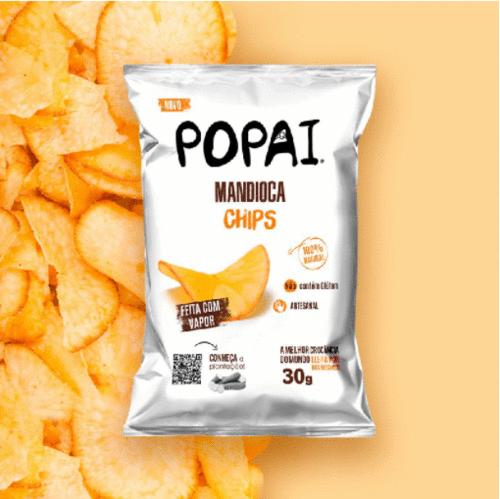 Popai Snack lança linha de chips de mandioca