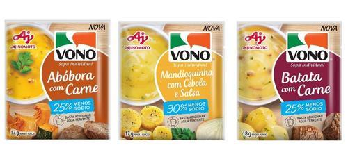 VONO amplia linha de sopas em versões com menos sódio