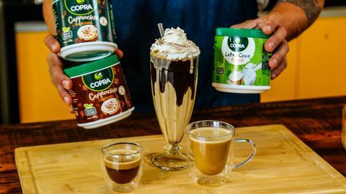 Copra lança linha vegana de cappuccinos com leite de coco em pó