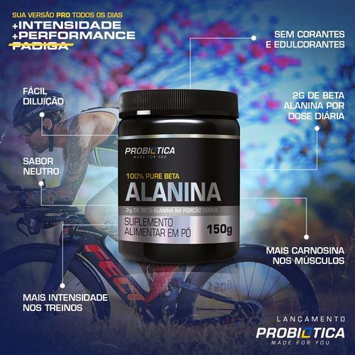 Probiótica lança suplemento 100% Pure Beta-Alanina